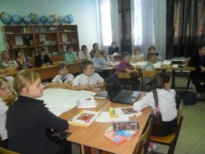 пятиклассники готовятся к выполнению проекта